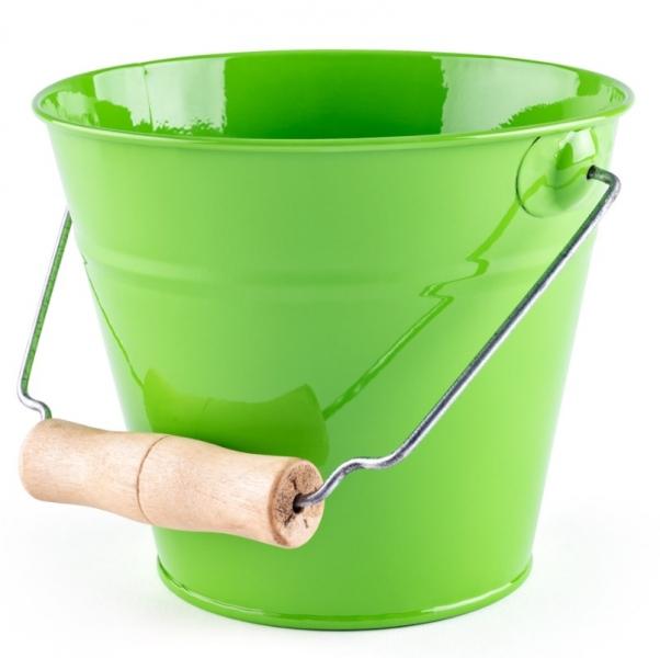 Woody Plechový kyblík na písek - zelený