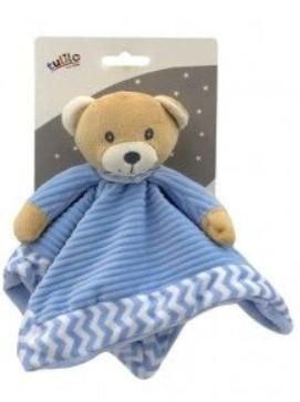 Tulilo Přítulníček, mazlík Méďa Teddy - modrý, 25 x 25 cm