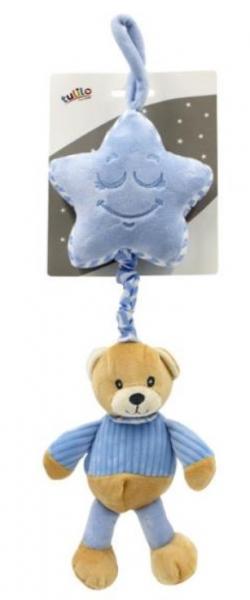 Tulilo Závěsná plyšová hračka s melodií Méďa Teddy - modrá