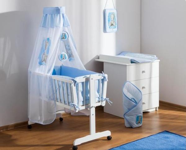 Baby Nellys 8-dílná sada do kolébky Sweet Dreams by TEDDY - modrá