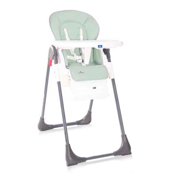 Jídelní židlička Lorelli CRYSPI FROSTY GREEN LEATHER