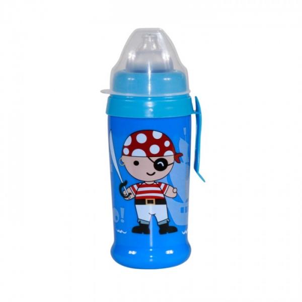 Hrníček Lorelli s měkký pítkem 350 ml BLUE PIRATE