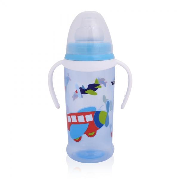 Hrníček Lorelli s měkký pítkem a oušky 350 ml BLUE AIRPLANES