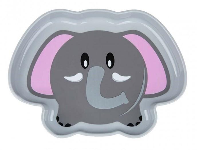 Akuku Plastový talířek - Slon, šedý