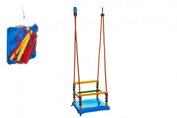 Houpačka plast 35x34cm modrá nosnost 40kg v síťce