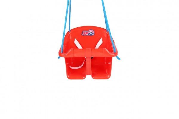 Houpačka Baby plast červená nosnost 20kg 36x30x29cm 24m+