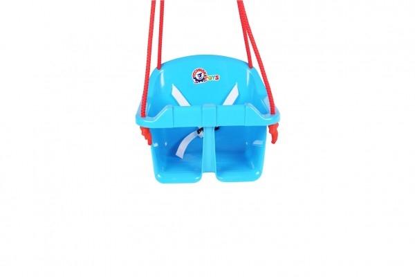Houpačka Baby plast modrá nosnost 20kg 36x30x29cm 24m+