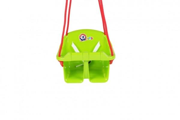 Houpačka Baby plast zelená nosnost 20kg 36x30x29cm 24m+