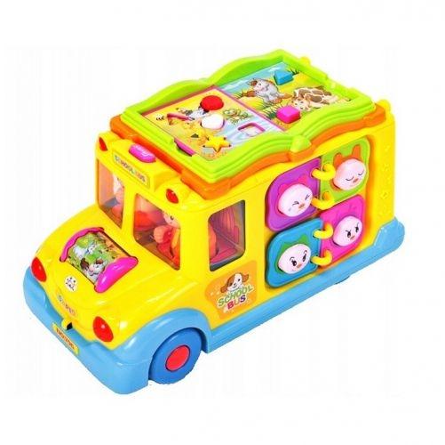Tulimi Interaktivní hračka s melodií a světlem Školní Autobus, žlutý
