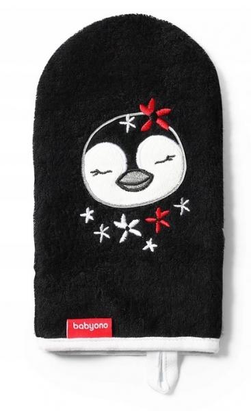 BabyOno Bambusová žínka Pinguin - černá
