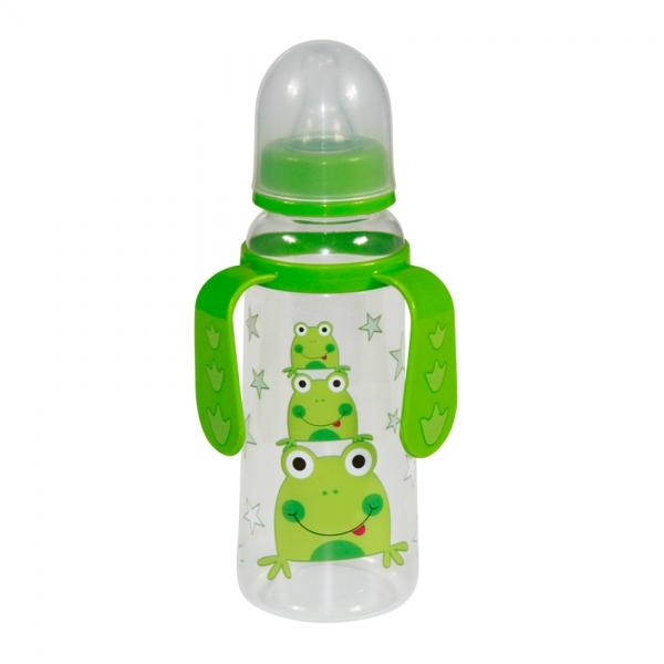 Dětská kojenecká láhev s oušky Lorelli 250 ml GREEN FROG