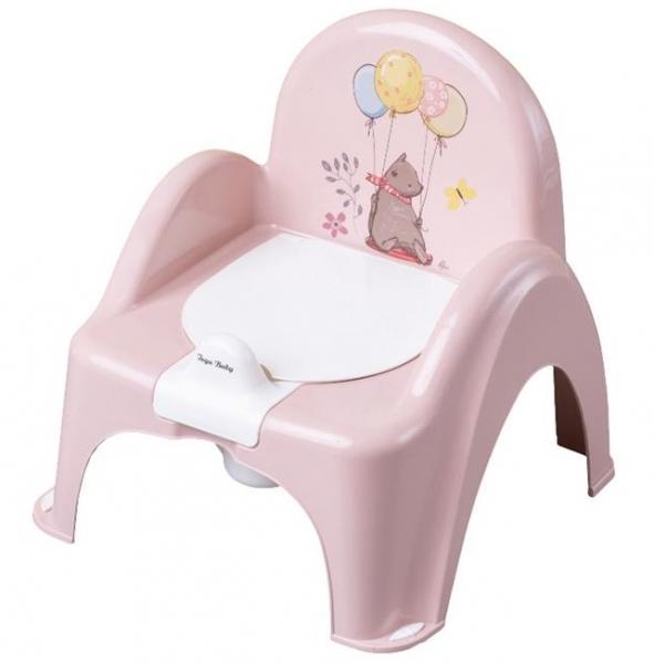 Tega Baby Nočník/židlička Medvídek - pudrový