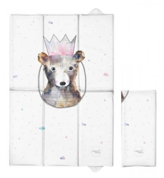 Ceba Baby Cestovní přebalovací podložka Medvídek s korunkou, 60 x 40 cm