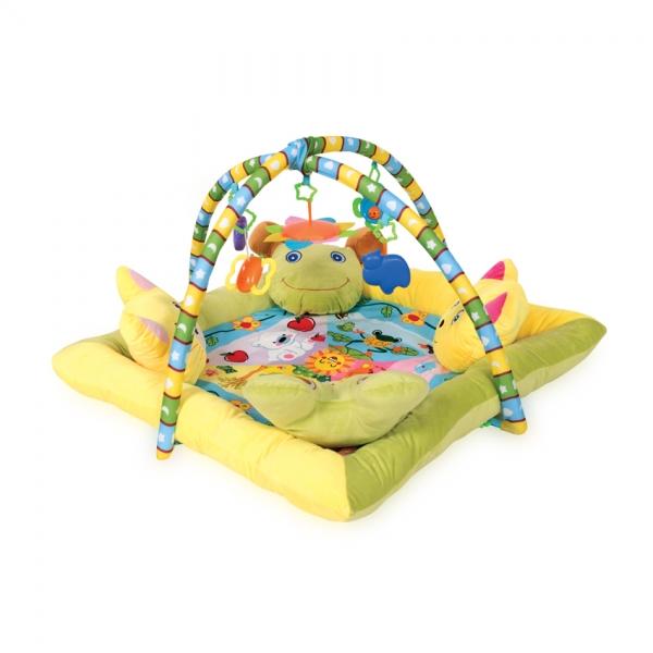 Hrací deka s hrazdou Lorelli 4 polštáře 88x88