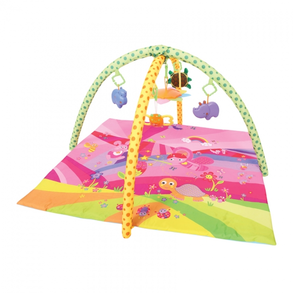 Hrací deka s hrazdou Lorelli FAIRY TALES PINK 89?84