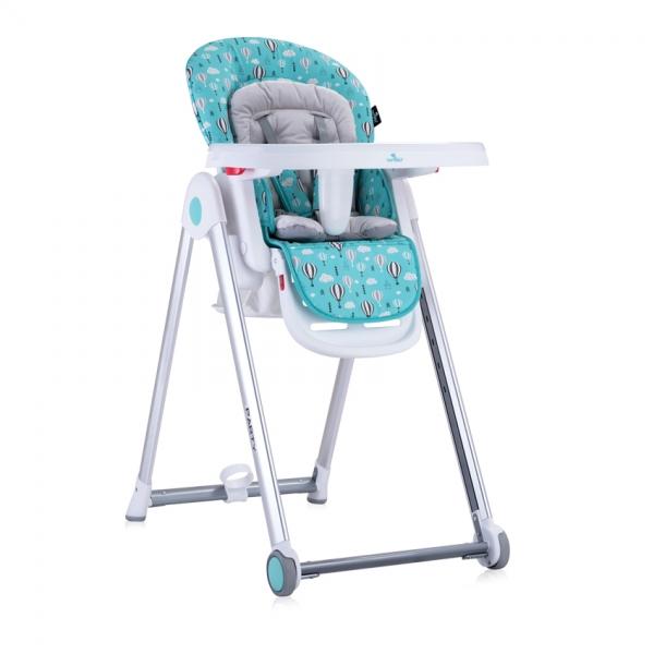 Jídelní židlička Lorelli PARTY GREEN&GREY BALLOONS