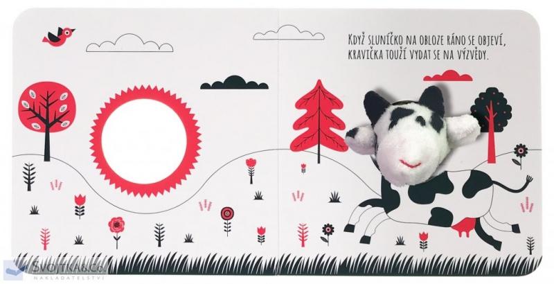 Knížka/leporelo Malá kravička - prsťáčkové leporelo