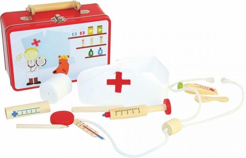 Woody Dětský lékařský kufřík  - červený