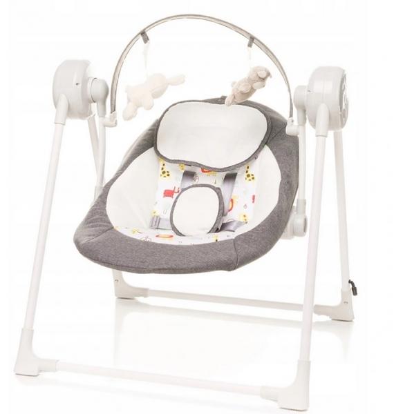 4 BABY Lehátko/houpačka pro kojence Swing safari - šedé