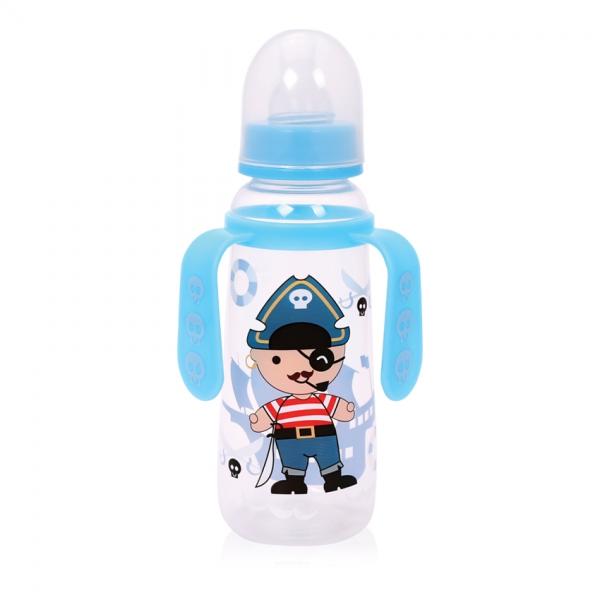 Dětská kojenecká láhev s oušky Lorelli 250 ml BLUE PIRATE
