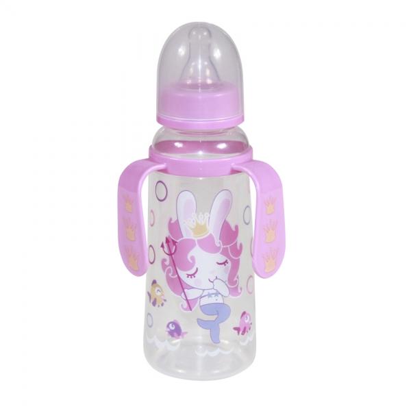Dětská kojenecká láhev s oušky Lorelli 250 ml PINK MERMAID