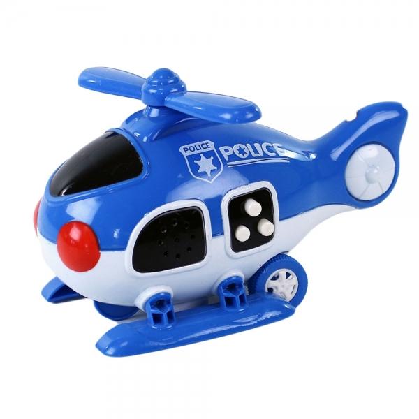 Helikoptéra policie se zvukem a světlem