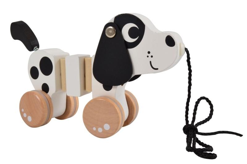 Magni Edukační dřevěná tahací hračka Pejsek, Dalmatin
