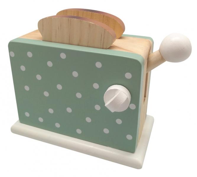 Magni Dětská dřevěná hračka Toustovač - zelený