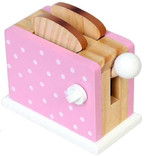 Magni Dětská dřevěná hračka Toustovač - růžový