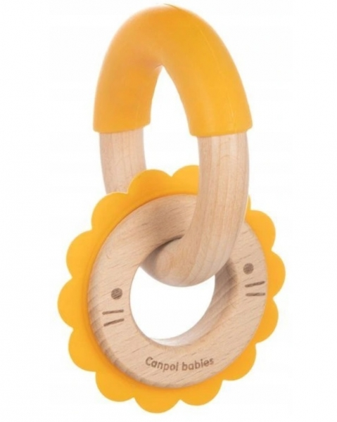 Canpol babies Dřevěné kousátko Lev - žluté