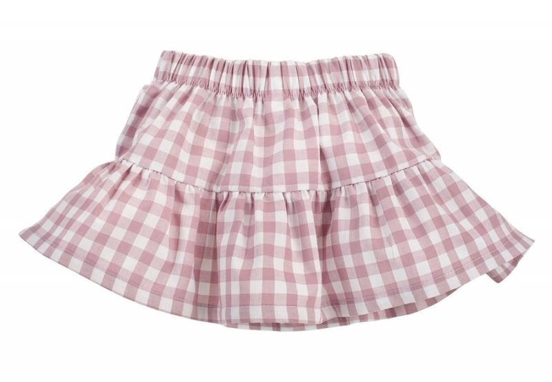 Pinokio Kostkovaná letní sukně Sweet Cherry - lila/bílá