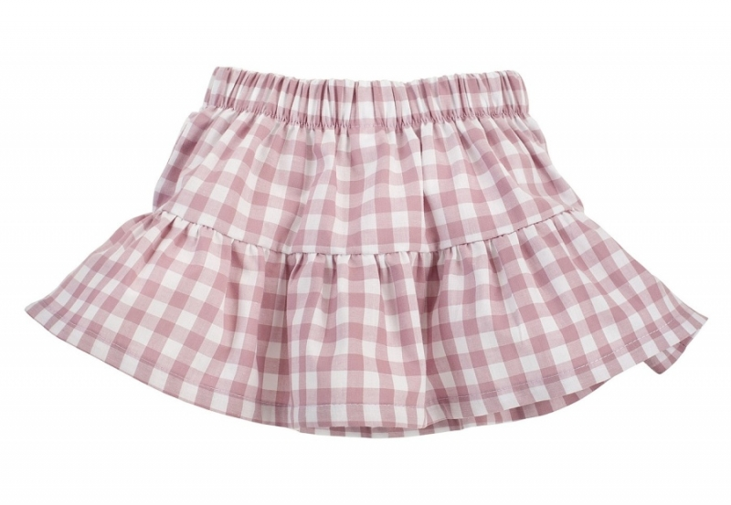 Pinokio Kostkovaná letní sukně Sweet Cherry - lila/bílá, vel. 80