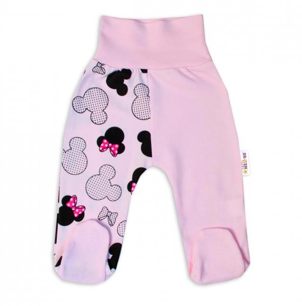 Baby Nellys Bavlněné kojenecké polodupačky  Minnie - sv. růžová, vel. 74