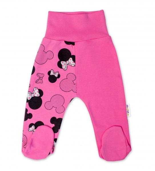 Baby Nellys Bavlněné kojenecké polodupačky  Minnie - růžová