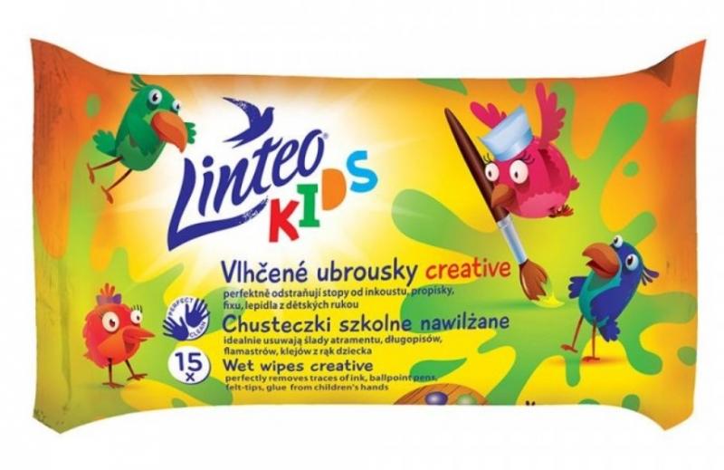 LINTEO BABY Vlhčené ubrousky LINTEO Kids - školní