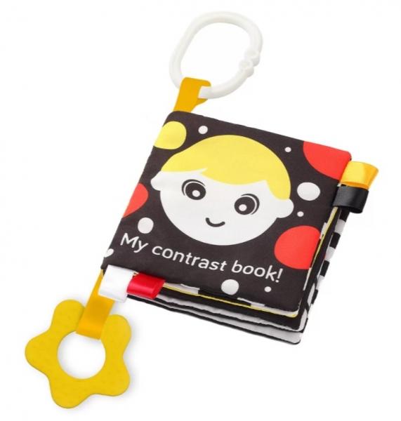 BabyOno Měkká senzorická knížka - My Contrast book