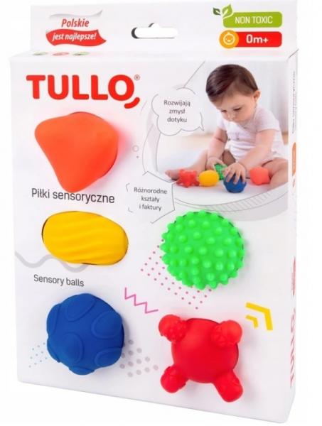 TULLO Edukační barevné míčky 5ks v krabičce, Tvary