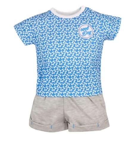 Koala Baby 2-dílná sada tričko kr. rukáv, kraťásky Cool Dog - modré