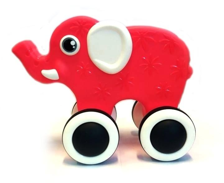 Tulimi Edukační hračka, tahací Sloník - červený