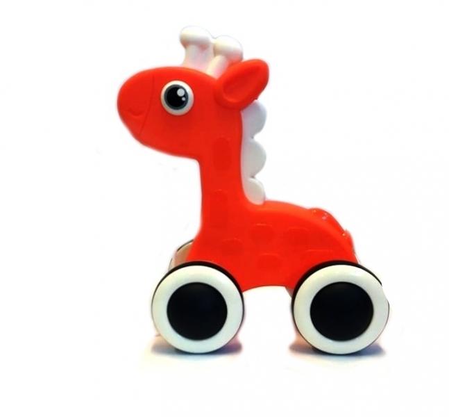 Tulimi Edukační hračka, tahací Žirafka - oranžová
