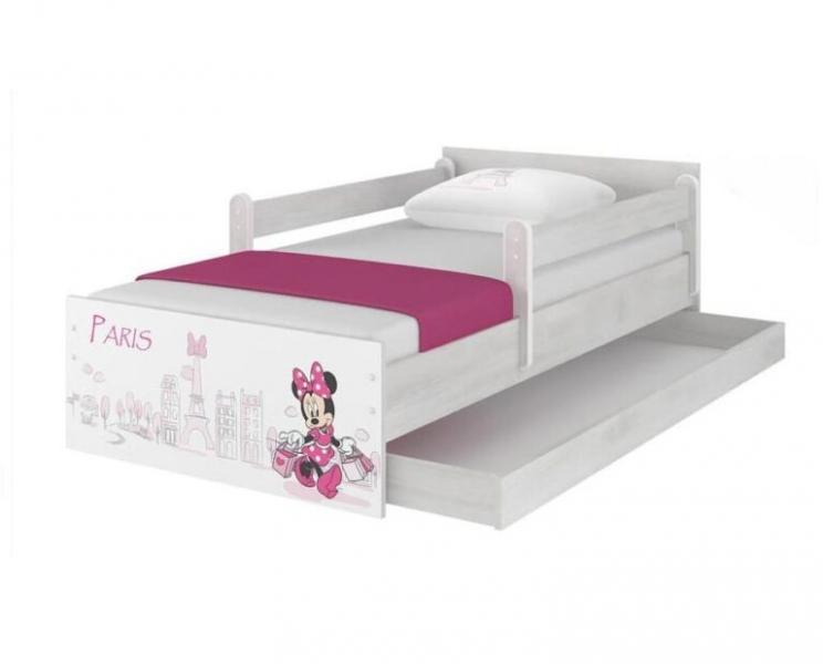 BabyBoo Dětská junior postel Disney 180x90cm - Minnie Paris + ŠUPLÍK