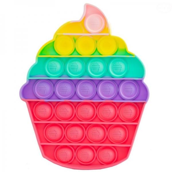 Pop It - Praskající bubliny, silikonová, antistresová spol. hra, Zmrzlina