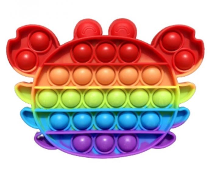 Pop It - Praskající bubliny, silikonová, antistresová spol. hra, Krab