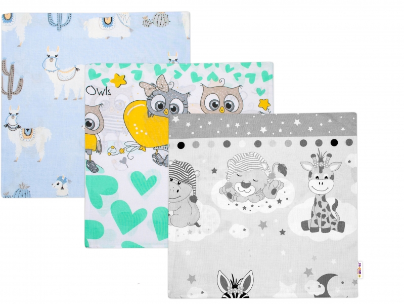Baby Nellys Povlak na polštářek 40x40cm, mix vzorů - klučičí barvy - 1 ks