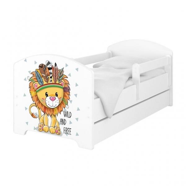 BabyBoo Dětská postel 140 x 70cm - Lev + šuplík