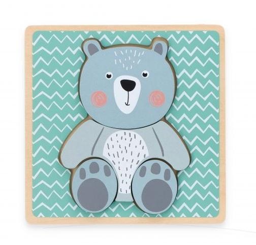 Adam Toys Edukační vkládačka Medvěd - mátová