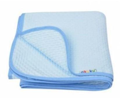 Akuku Dětská bavlněná deka,  80x90 cm, modrá