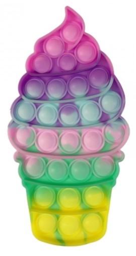 Pop It - Praskající bubliny, silikonová, antistresová spol. hra, Točená zmrzlina
