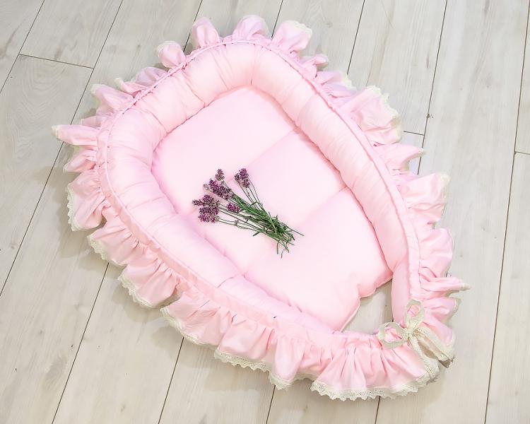 Baby Nellys Kojenecké hnízdečko, kokon Boho Style LUX, 60 x 90 cm - růžové. pudorvé