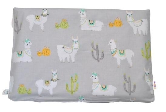 Baby Nellys Povlak na polštářek Lama, 40x60 cm - šedá